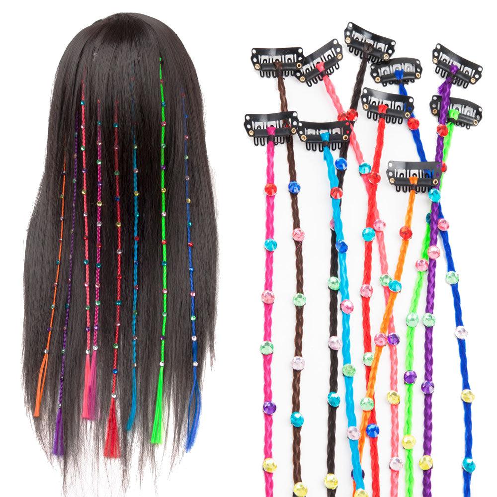 Seamless Hair Extension Piece Straight Hair Braid Hairpin Hair Styling Accessories Head Jewelry
