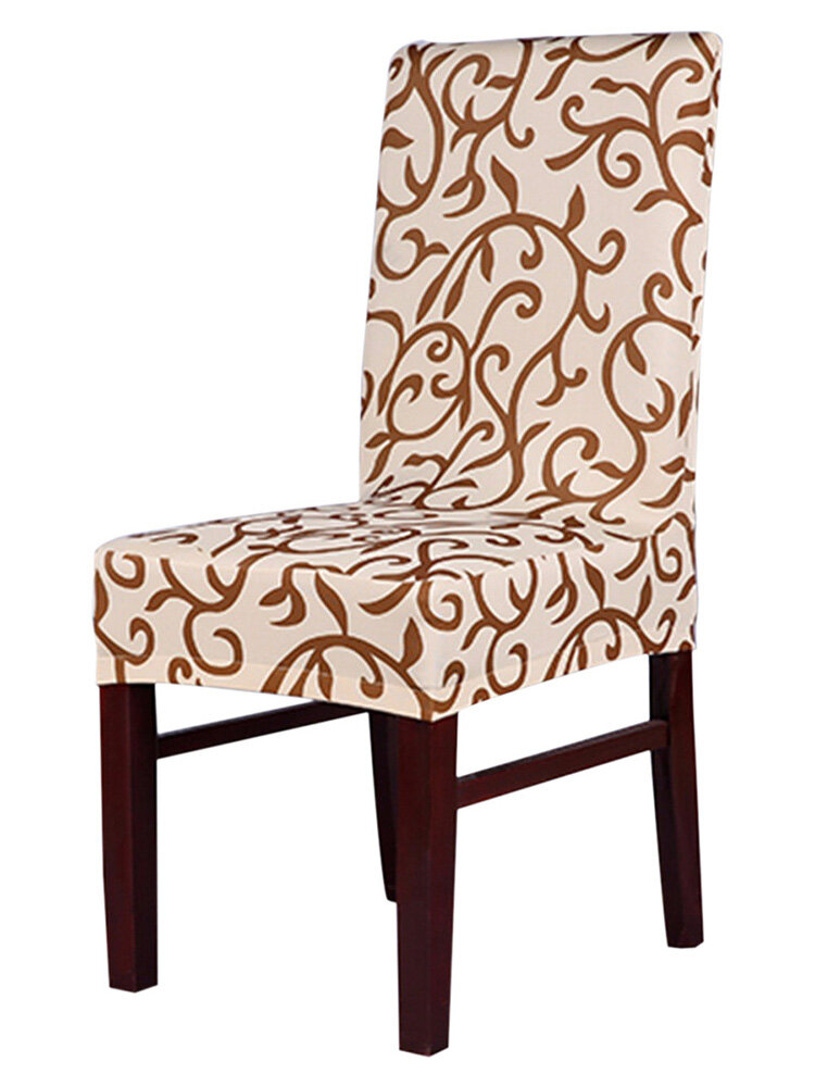 Vintage Retro Style Rhombic Paddy Stretch Slipcover Dining Room Wedding Party Short Chair Seat Cover