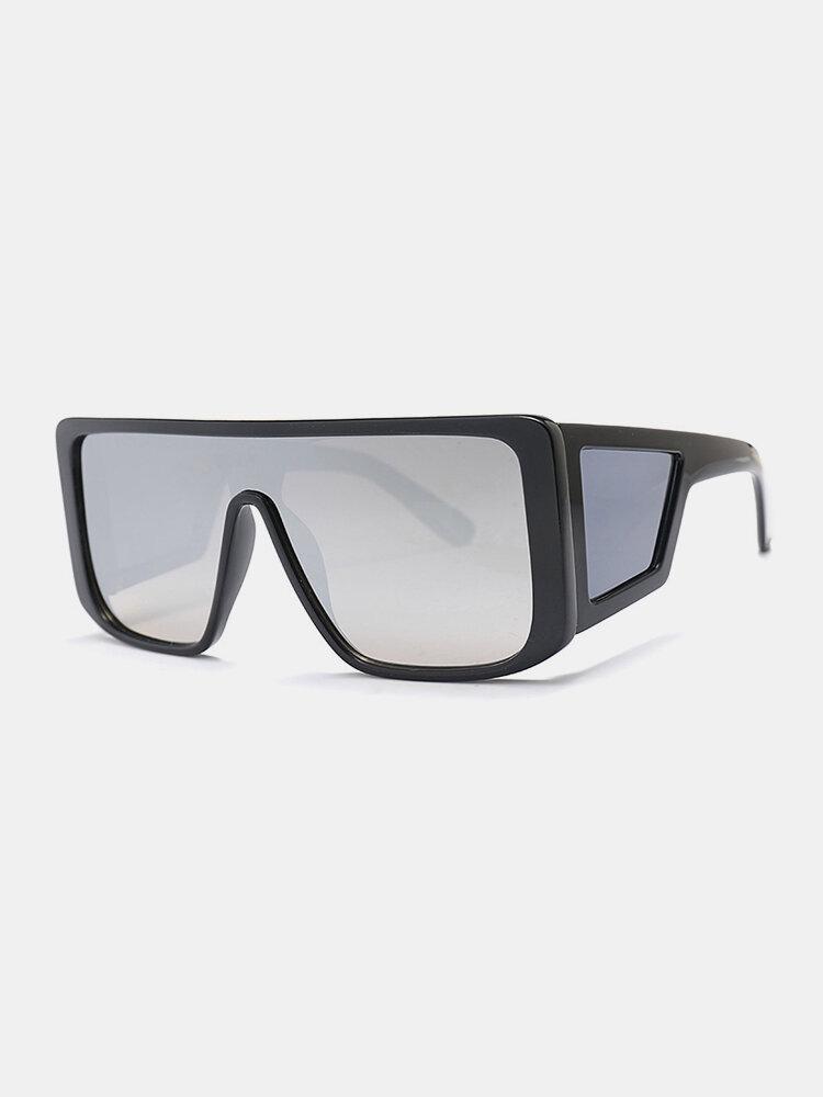 نظارات شمسية رجالية بإطار كامل من قطعة واحدة مقاومة للرياح UV حماية