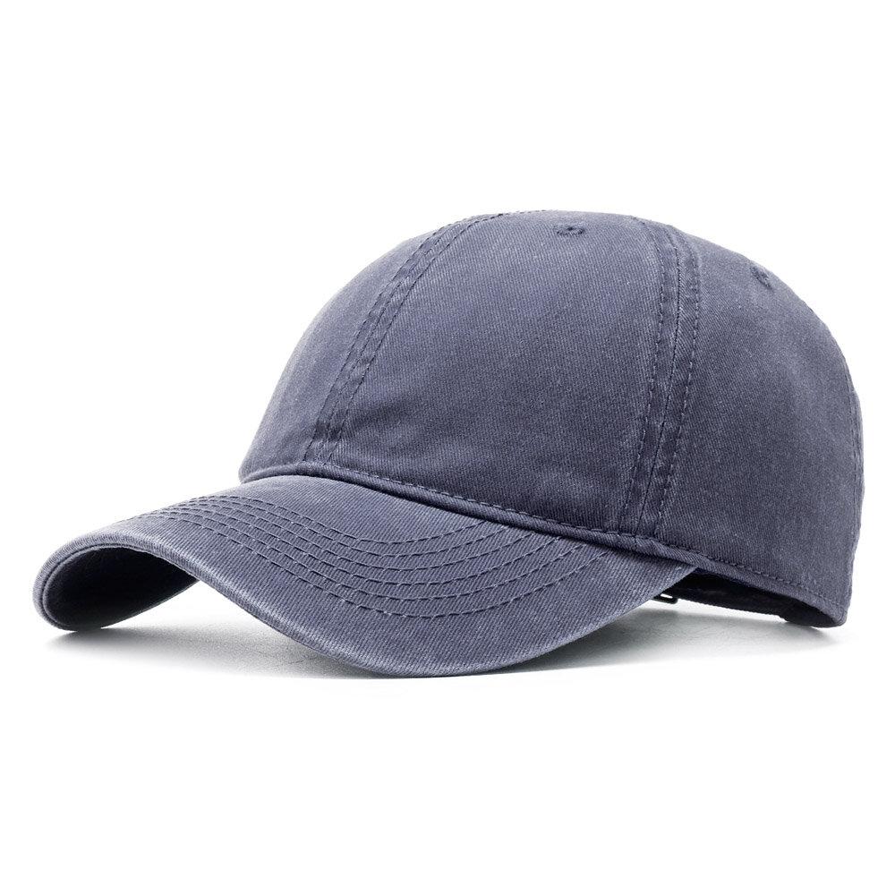 Mens Womens Washed Twill Cotton Baseball Cap Vintage Adjustable Hat