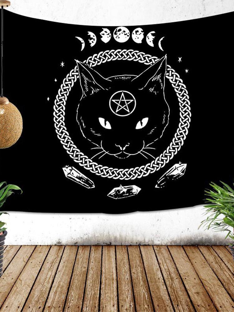Скандинавский фон ткань висит ткань фон стены домашний гобелен гостиная мультфильм одеяло прикроватное украшение