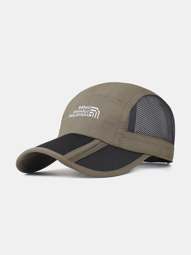 Folding Baseball Cap Outdoor Fishing Net Hat Quick-drying Cap
