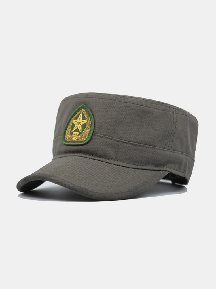 Men Cotton Camouflage Embroidery Print Susnhade Outdoor Casual Flat Hat Peaked Cap Military Hat
