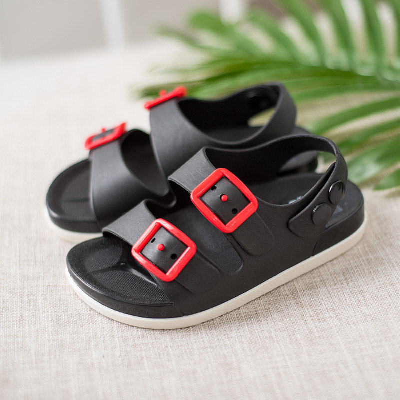 Boys Breathable Soft Bottom Buckle Lightweight Beach Sandals