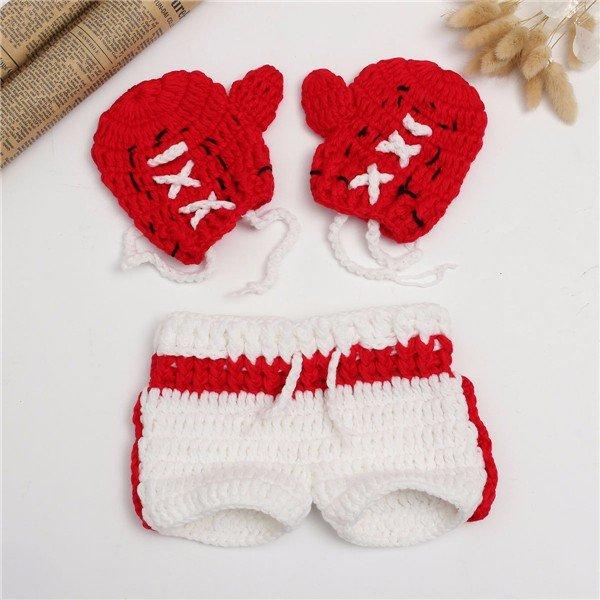 Новорожденные девочки Мальчики Дети Вязание крючком Вязание Костюм Фото Фото Опора Наряд