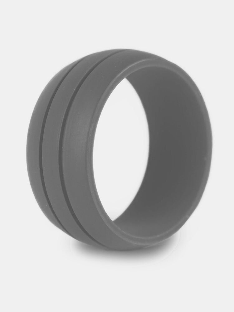 8.5MM Trendy Colorful Environmental Silicone Rings Casual Unisex Wholesale Gift for Men for Women