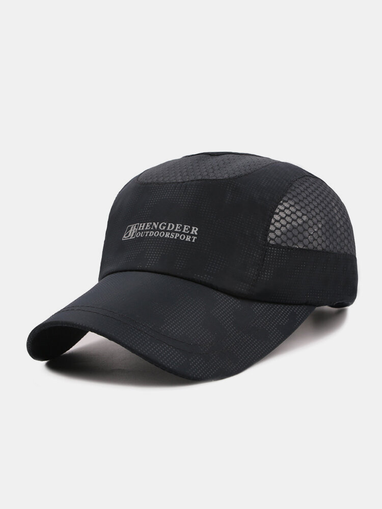 Mens Women Thin And Breathable Quick-dry Baseball Hat Outdoor Climbing Sunshade Net Caps