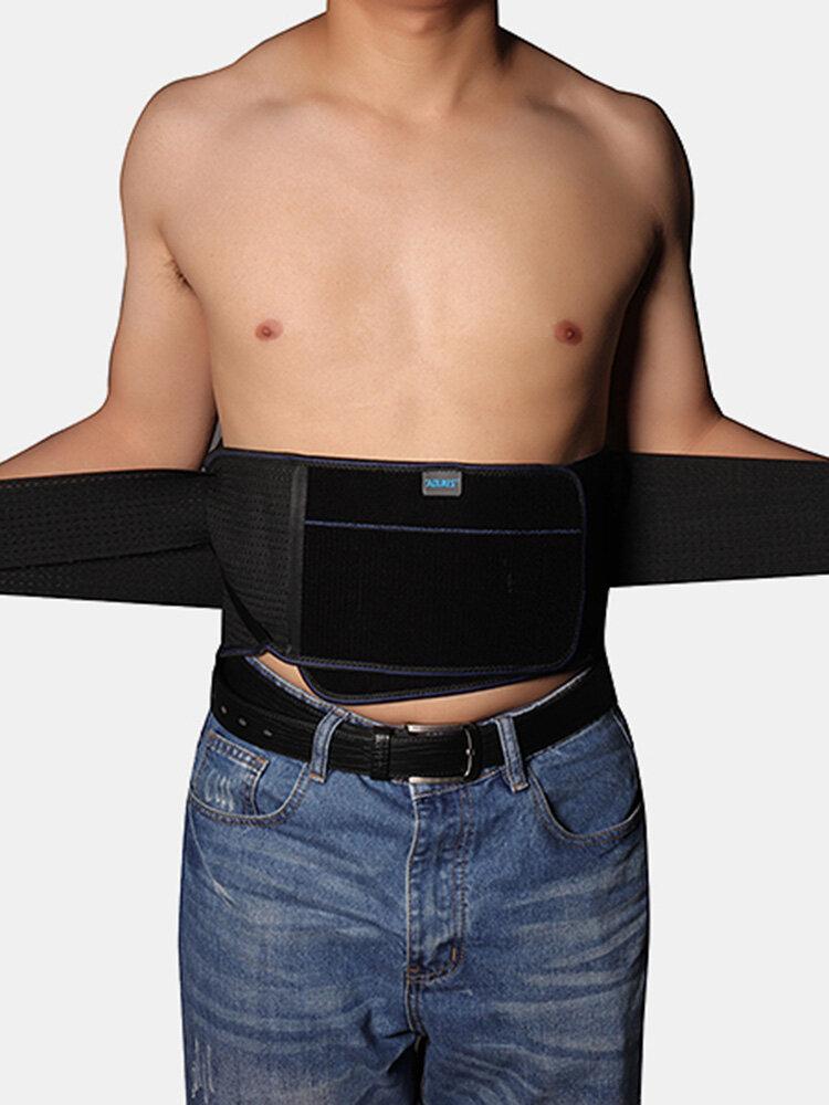 Men Women Breathable Fitness Belt Weight Lifting Dumbbells Warm Lumbar Steel Plate Waist Supporter