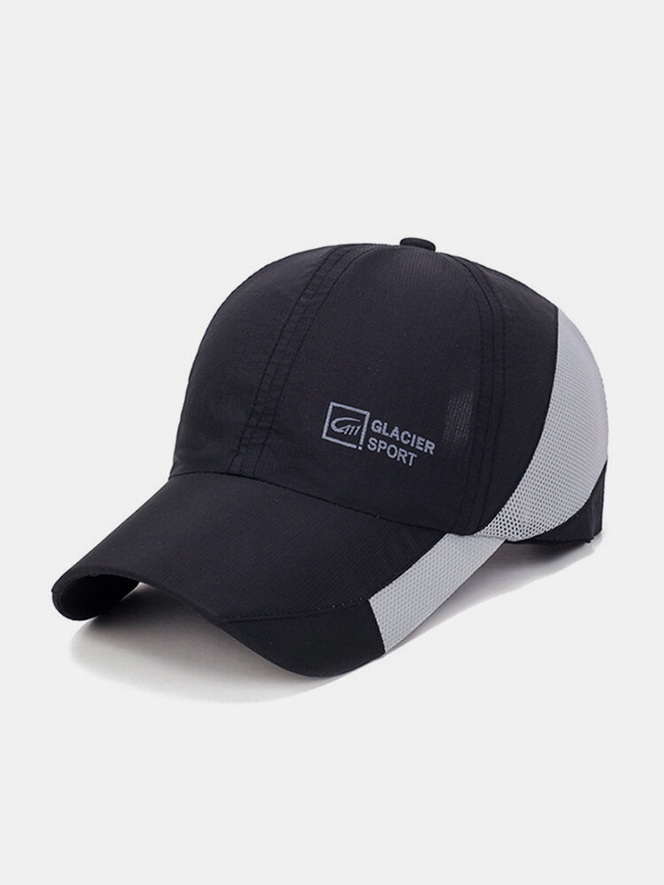Mens Women Sunscreen Baseball Cap Quick-Dry Mesh Breathable Outdoor Climbing Sun Hat
