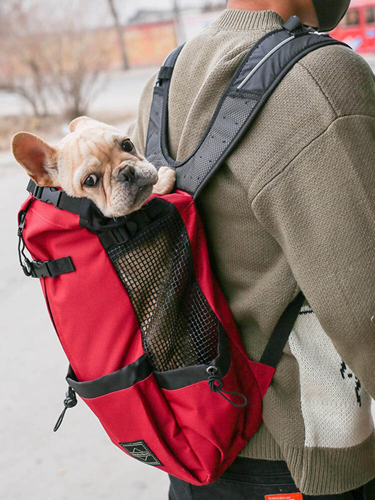 1 PC Canvas Multi-carry Mesh Breathable Safe And Comfortable Light Outdoor Travel Backpack Dog Pet Multifunction Carrier Backpack