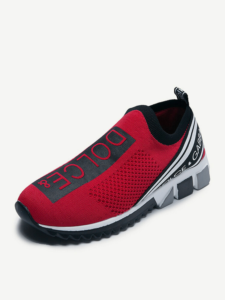 Plus Size Mesh Breathable Slip Resistant Slip On Flat Sneakers Shoes