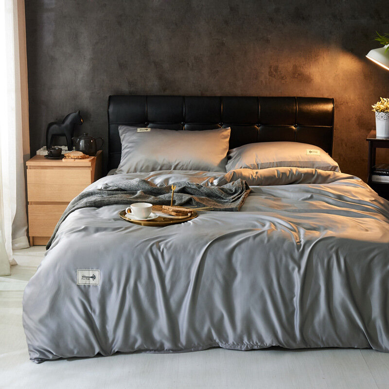 Washed Silk Satin Bedding Set