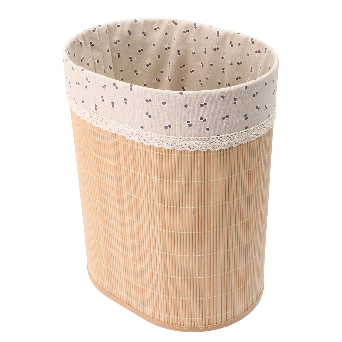 Bamboo Laundry Hamper Basket Clothes Storage Bag Sorter Bin Organizer Lid S L