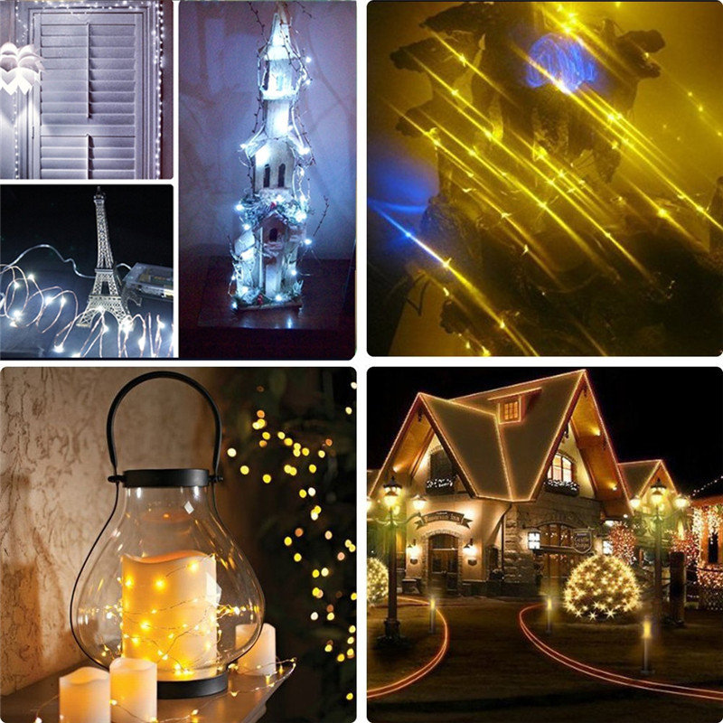5M 50 LED Battery LA String Fairy Light Operated Christmas Lights Party Decoration US