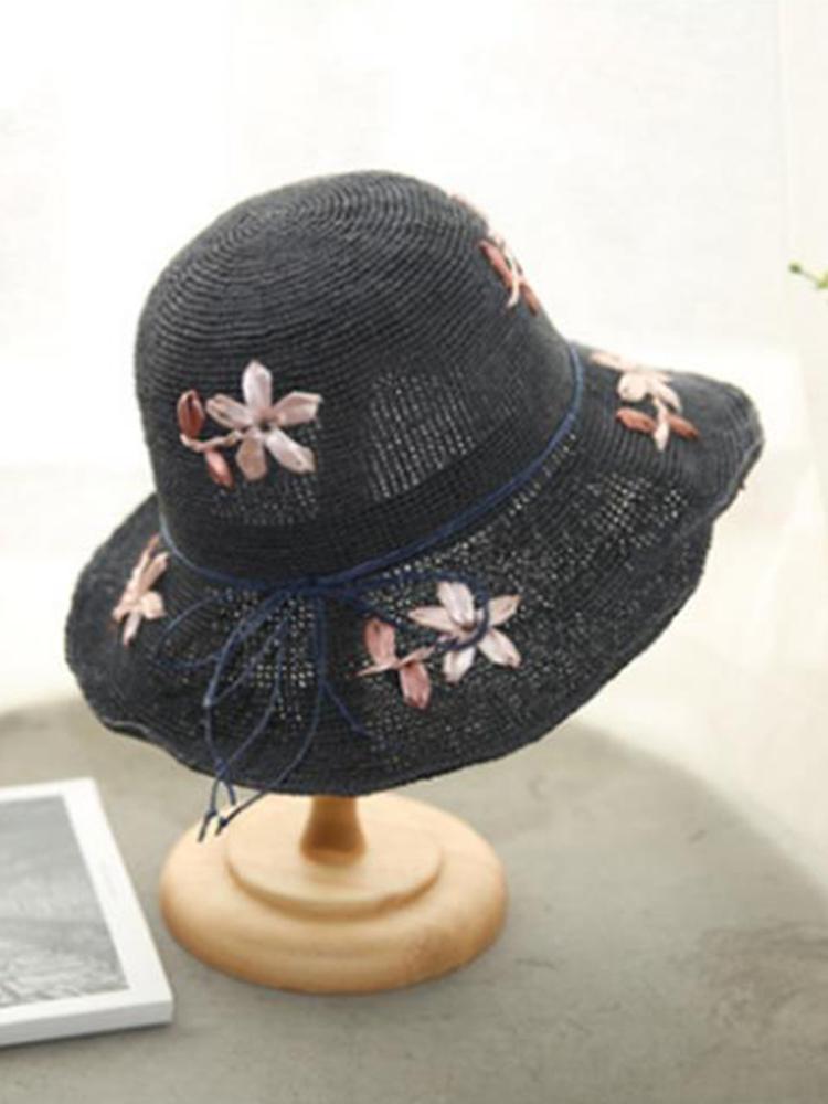 Womens Foldable Mesh Summer Breathable Anti-UV Fisherman Hat Outdoor Travel Sunscreen Bucket Hat