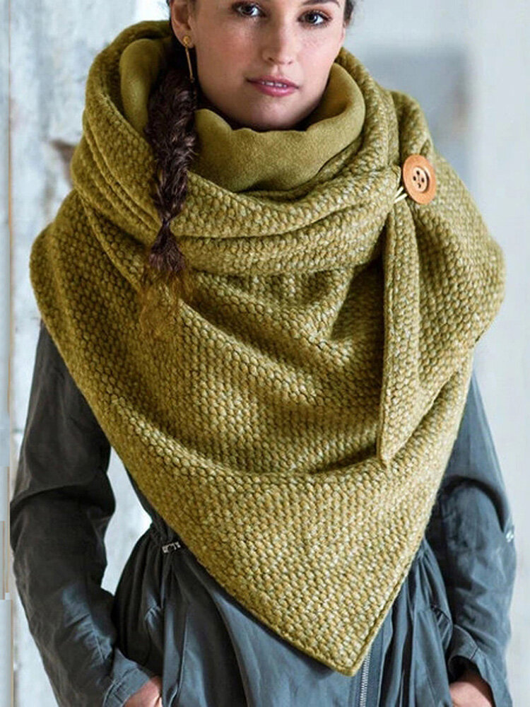 Женское Повседневная универсальная толстая теплая шаль с шарфом с пряжкой и принтом