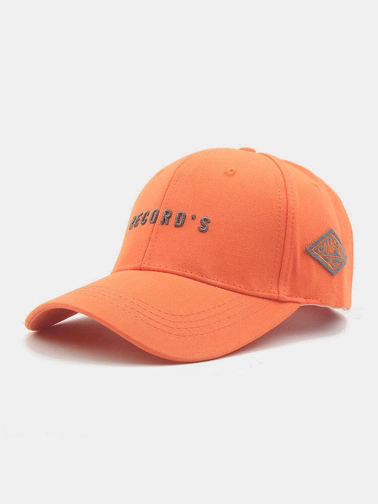 ユニセックスコットン刺繡レター無地ファッションサンシェード野球帽