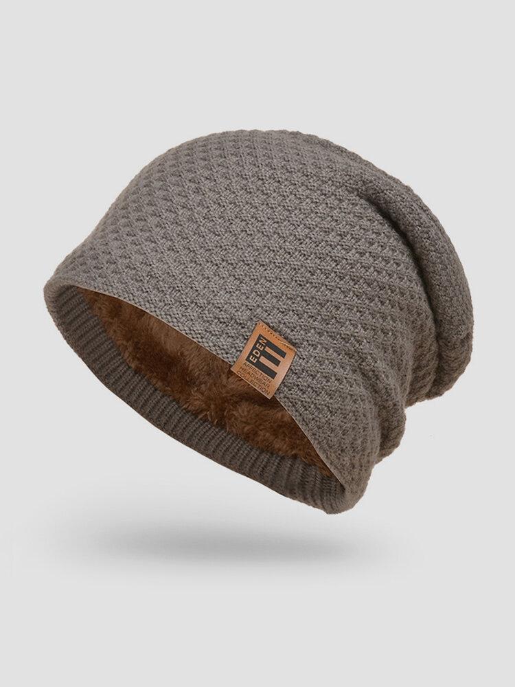 メンズウールPlus厚手の冬は暖かく防風ニット帽を保つ