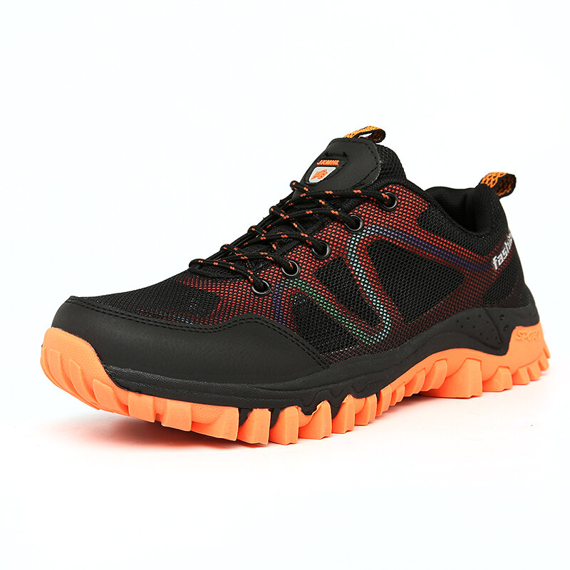 Men Mesh Breathable Outdoor Lace Up Hiking Sport Shoes