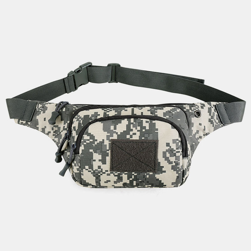 Men Nylon Multi-carry Multi-pocket Outdoor Tactical Camouflage Riding Waist Bag Sling Bag Chest Bag