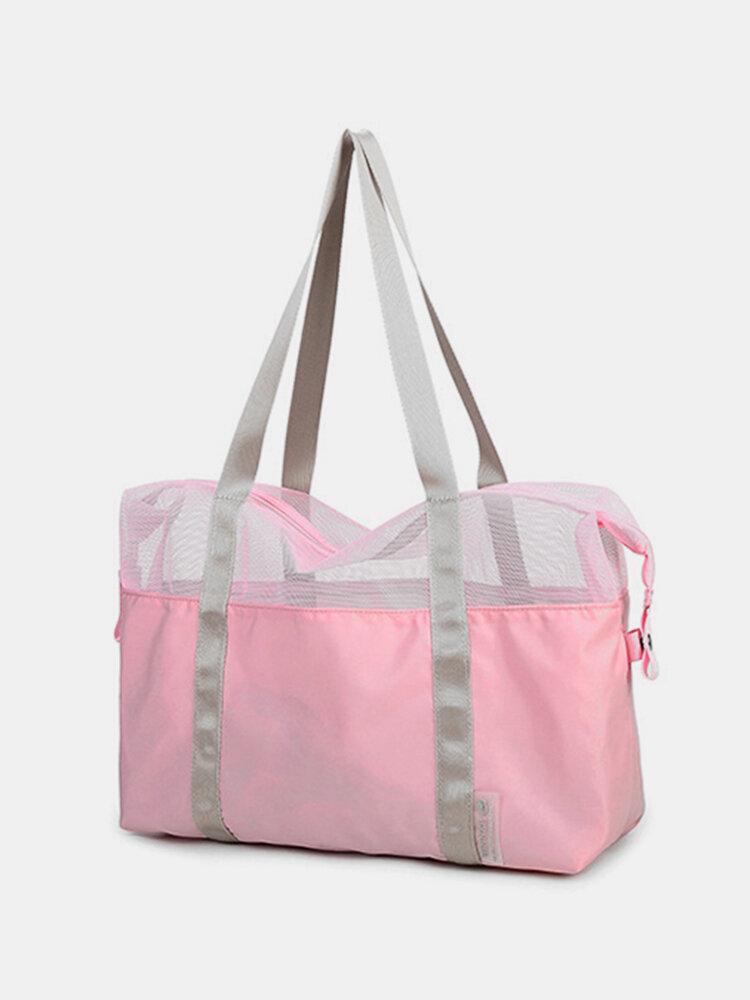 Waterproof Travel Cosmetic Mesh Storage Bag Makeup Beach Swimming Organizer