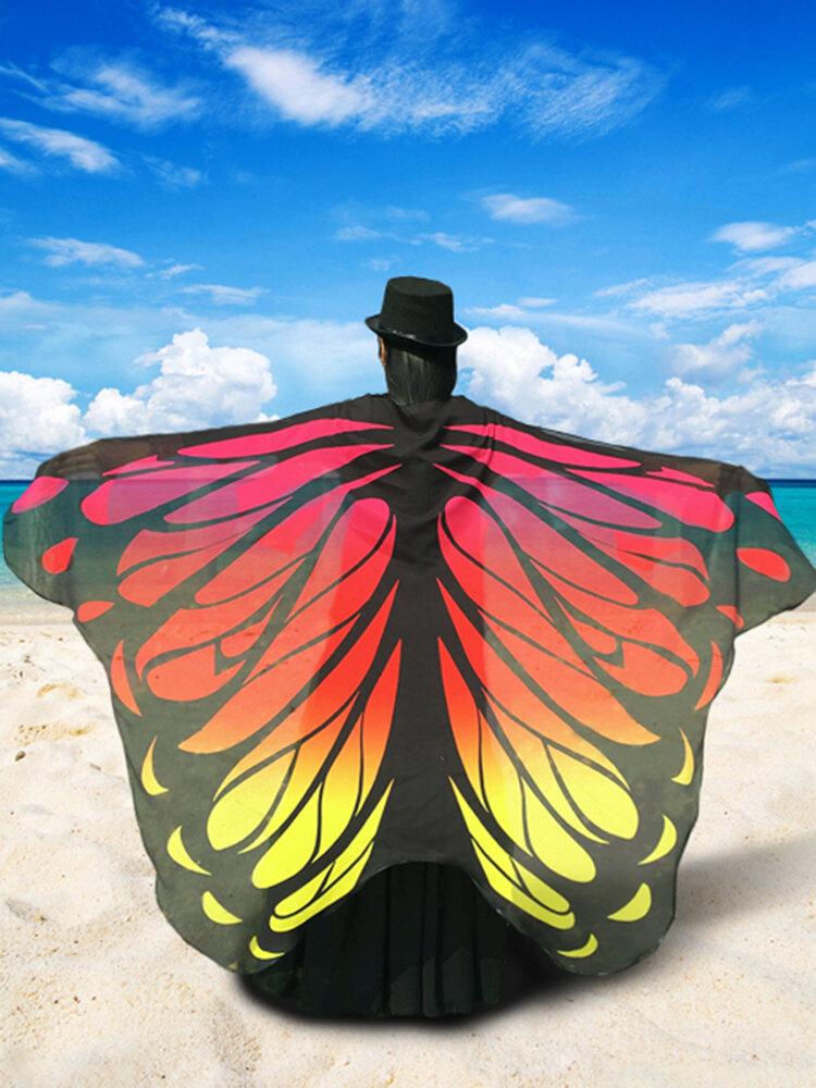 女性のためのハロウィーンギフトファッションバタフライウィングビーチタオルケープスカーフクリスマスハロウィーンギフト