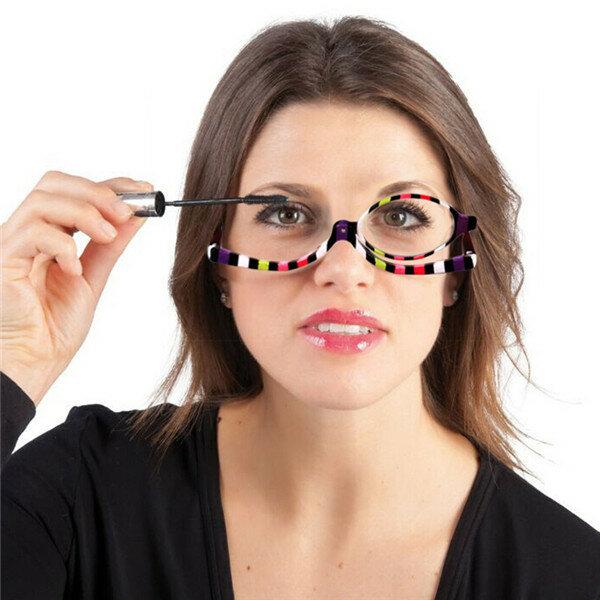 النساء للتدوير المكبرة العين ماكياج التجميل نظارات القراءة نظارات الوجه