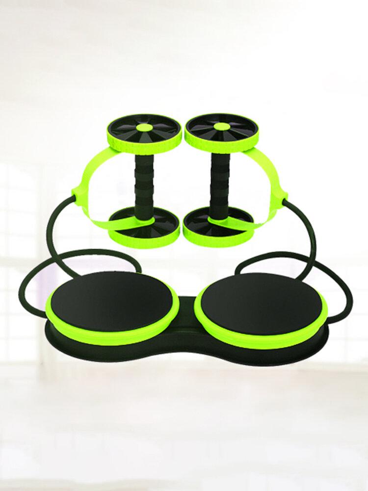 <US Instock> عجلة مزدوجة AB Roller Sport النواة سليمالجسم معدات تمارين البطن مدرب تخسيس الخصر مدرب البطن في الصالة الرياضية المنزلية