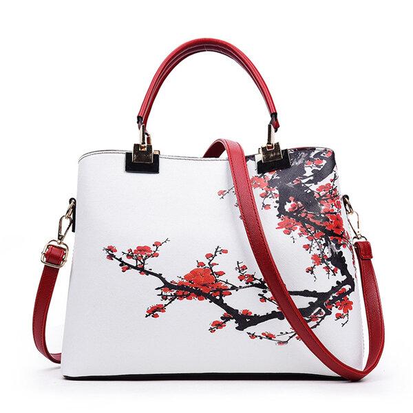 Women Flower Pattern National Style Shoulder Bag Handbag Crossbody Bags
