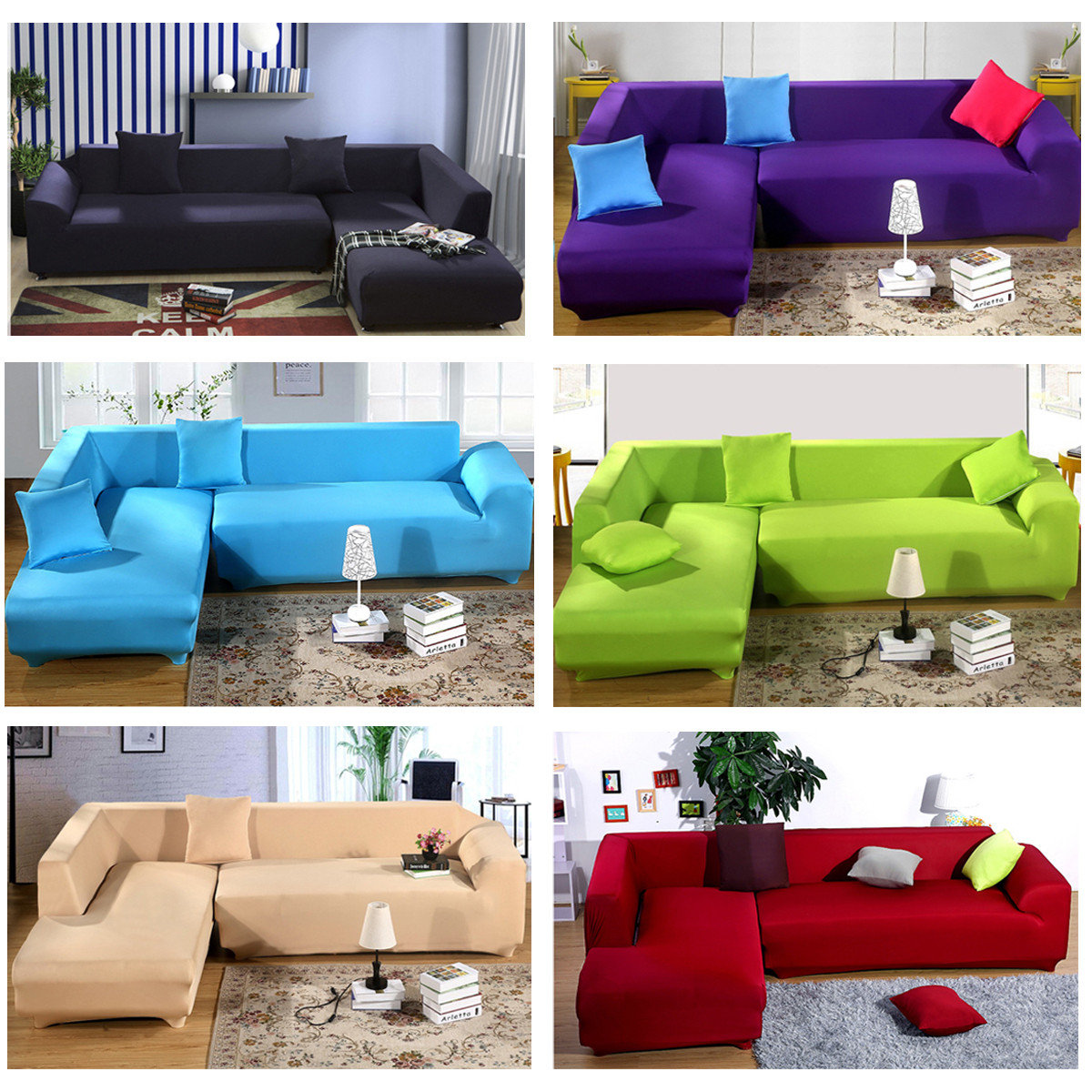 4 seater solid colors nylon strench elastic sofa couch cover rh newchic com