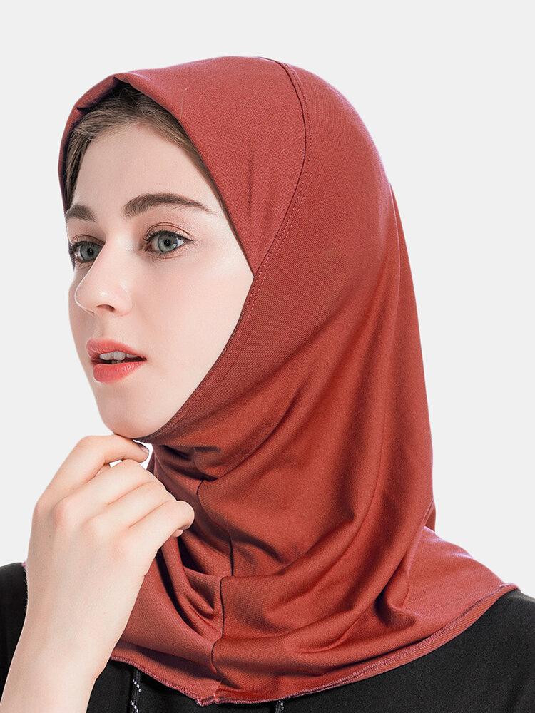 Muslim Hijab Scarf Women Solid Crystal Hemp