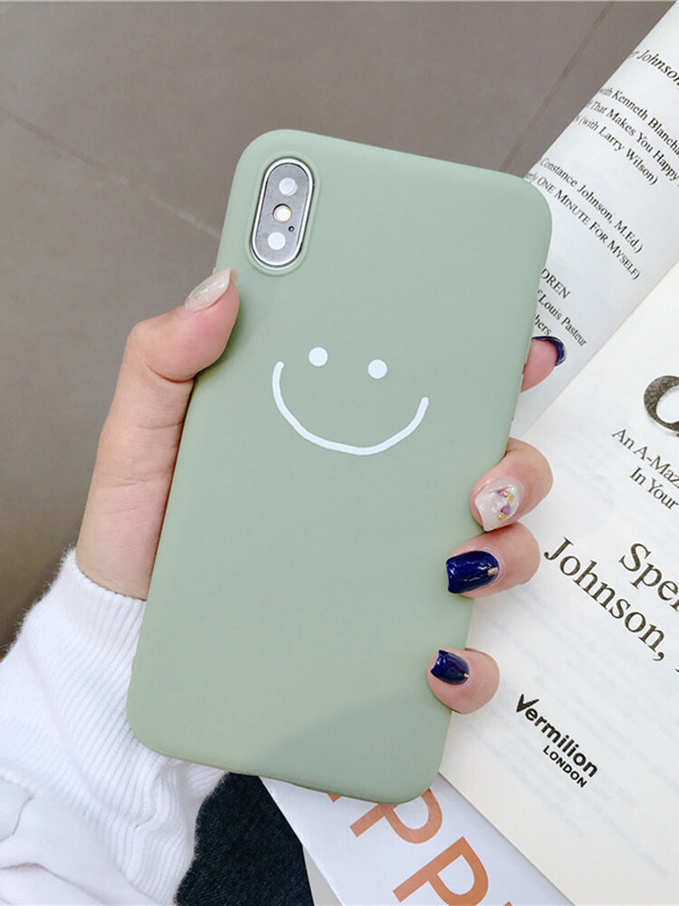 Woman Cute Phone Case Cartoon Pattern Emoticon Pack Liquid Soft Shell For iPhone