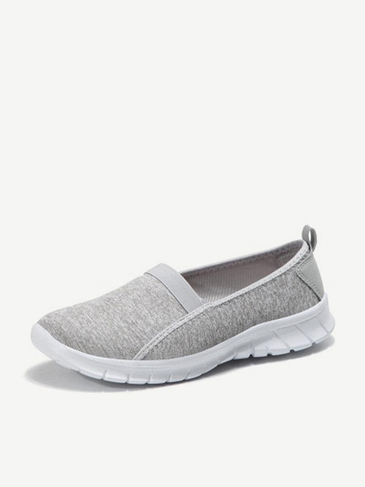 Elastic Band Large Size Walking Breathable Flat Casual Shoes