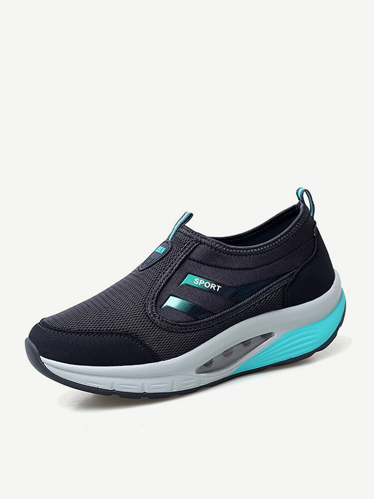 Women Casual Outdoor Mesh Cushioned Slip On Shake Shoes