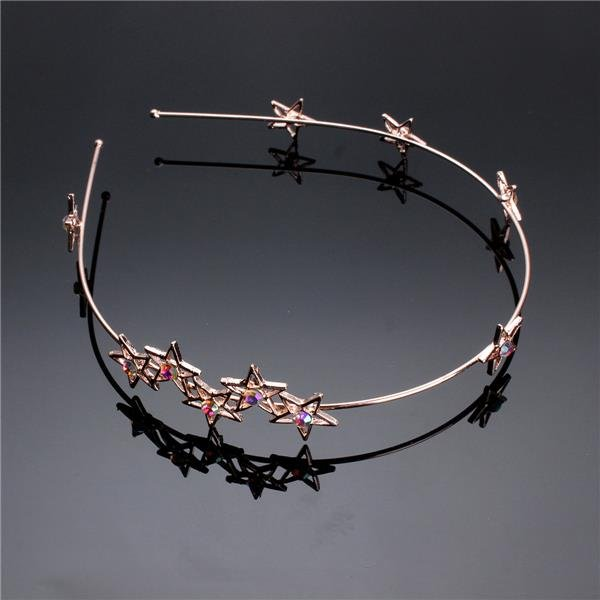 Women Flower Rhinestone Head Chain Jewelry Headband Head Piece Hair Band