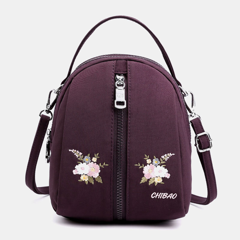 Women Casual Solid Multi-carry Crossbody Bag Backpack