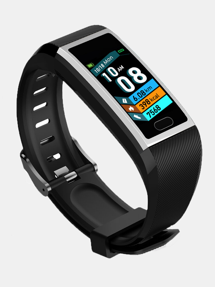 1.14 Inch Color Screen Wristband Blood Pressure Oxygen Monitor 15 Days Long Standby Fitness Tracker Smart Watch