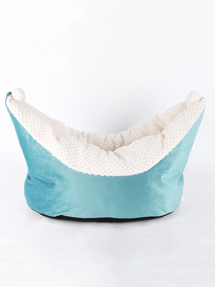 5色の月の船の形のペット犬小屋犬猫素敵な深い睡眠のベッドの犬小屋