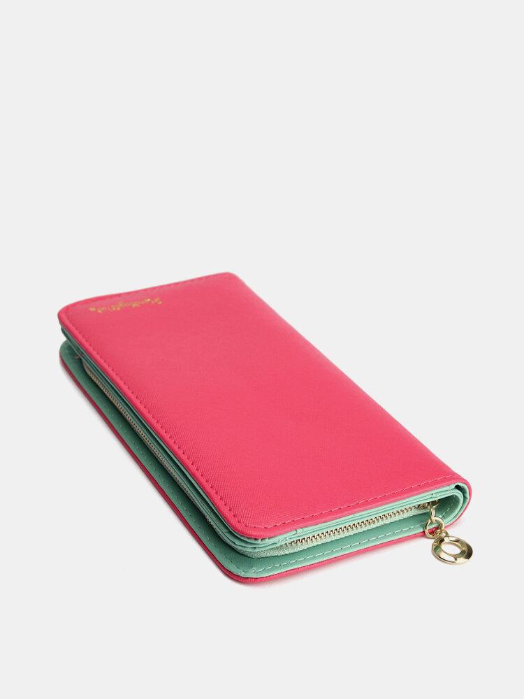 Candy Color Purse Women Zipper Wallet Cash Coins Purse