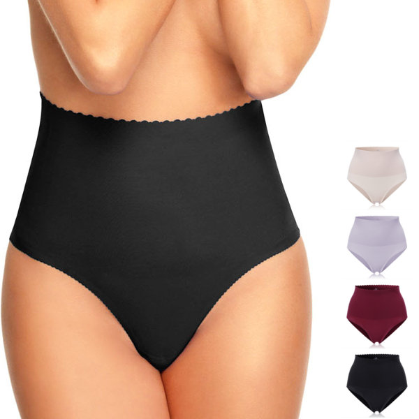 Ultrathin Seamless Raw Cut High Waist Panties Belly Shaping Soft Underwear