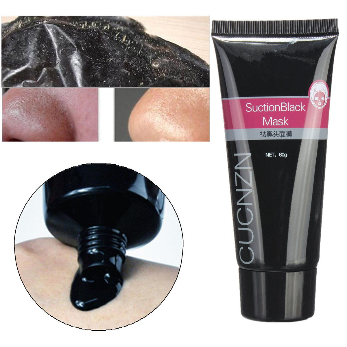 CUCNZN Deep Cleansing Blackhead Acne Remover Face Mask