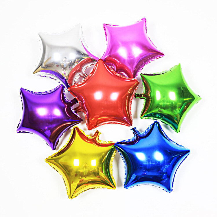 1 Pcs Five-pointed Star Helium Foil Balloon Wedding Birthday Party Decoration