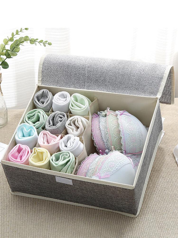 Aufbewahrungsbox für Unterwäsche aus Baumwolle Organizer Multi-Collapsible BH Aufbewahrungsbox für Unterwäschesocken