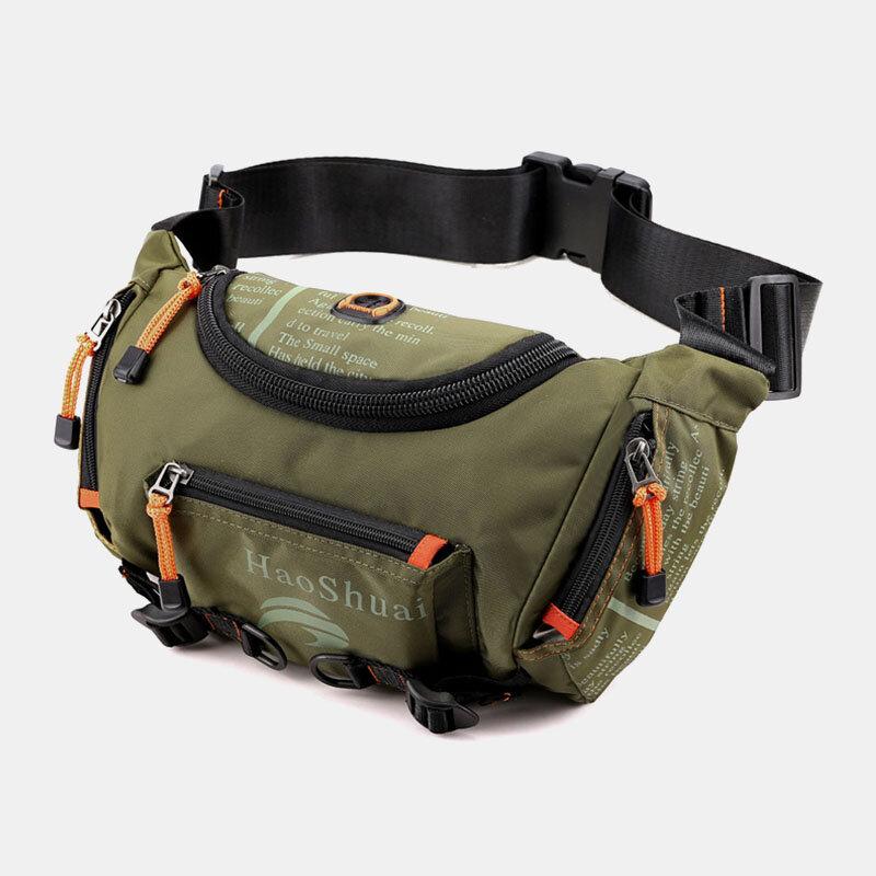 Men Waterproof Outdoor Headphone Plug Crossbody Bag Chest Bag Sling Bag