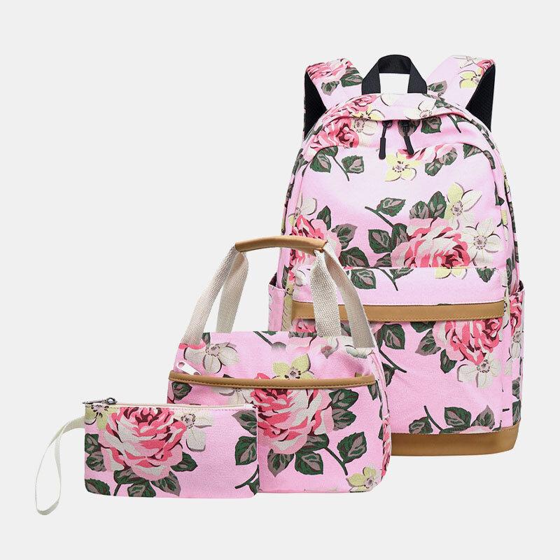 तीन-टुकड़ा बैग ऑक्सफोर्ड महिला मध्य विद्यालय के छात्र स्कूल बैग यूएसबी कंप्यूटर बैग आउटडोर बैग
