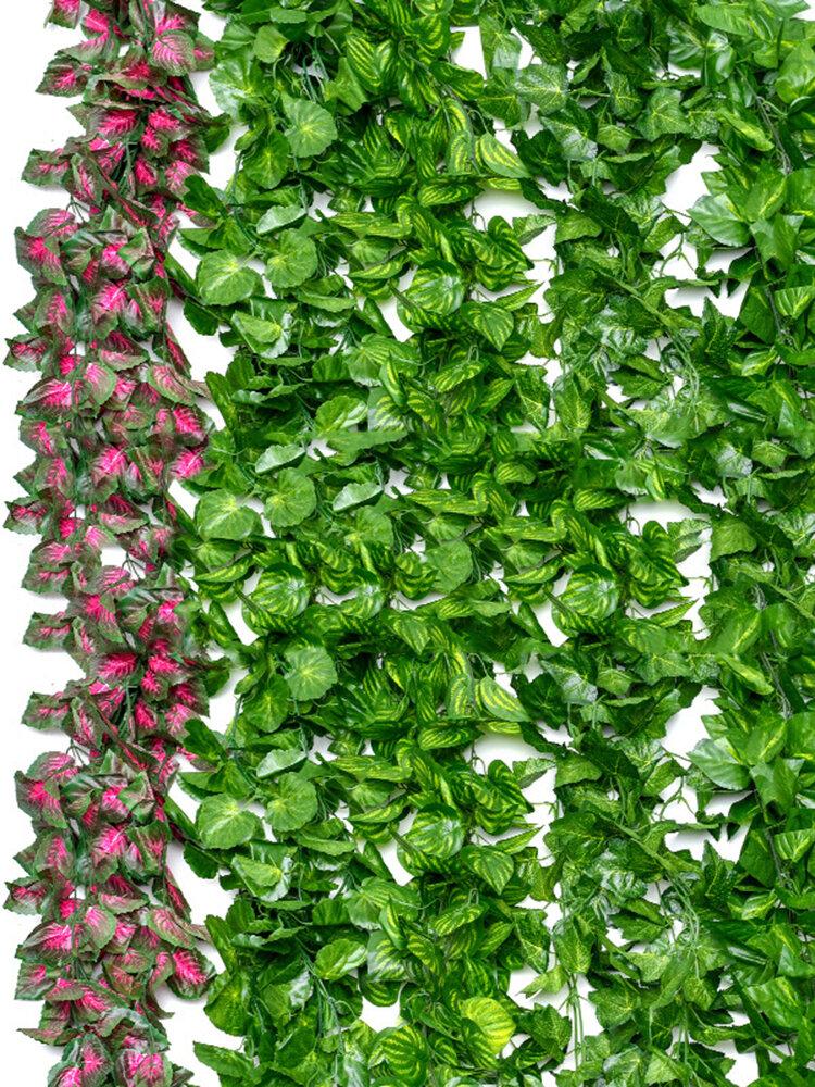 装飾的な花と花輪人工のアイビーリーフガーランド植物つる偽の紅葉花家の装飾