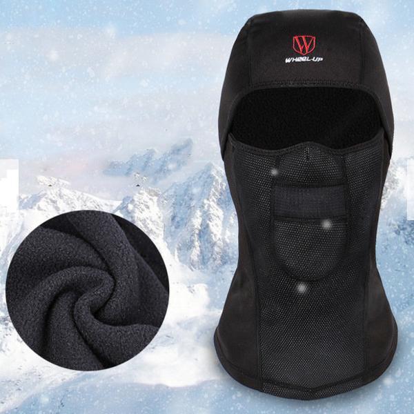 Pasamontaña polar de vellón con máscara impermeable resistente al viento y al polvo en invierno para hombres