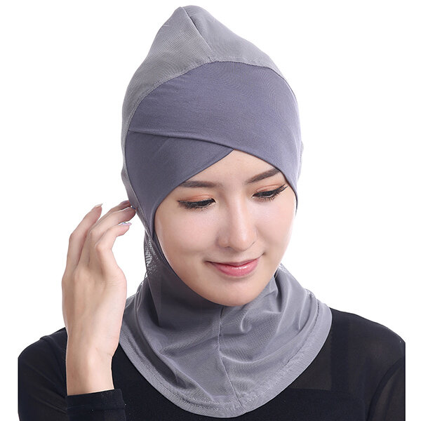 Women Muslim Hijab Face-lift Single-cross Islamic Headscarf Ethnic Arabia Middle East Hat