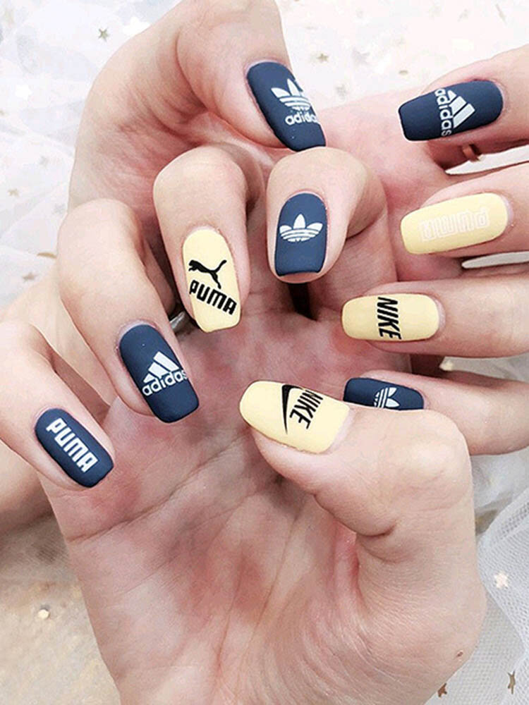 3D Sports Trendy Style Sign Nail Stickers Waterproof DIY Colorful Tips Nail Decals Manicure