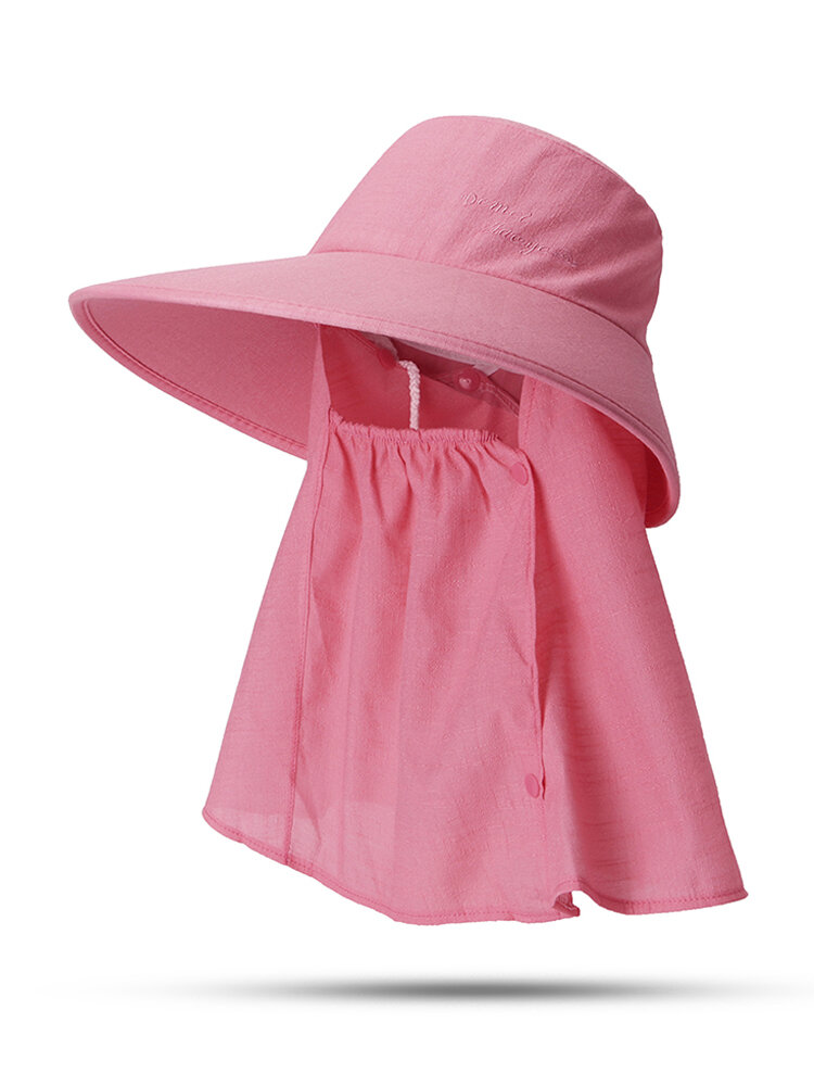 Cappello da donna con protezione solare estiva in tinta unita Cappello da muschio per esterno Cappello rimovibile casual